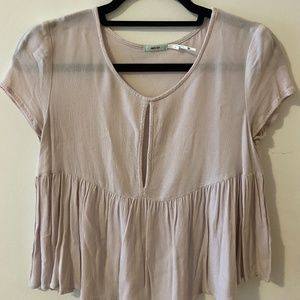 Light Pink Baby Doll Blouse Size S